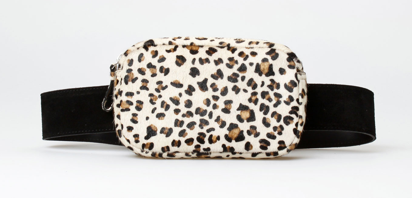 Treats Edith Suede Fanny Pack - Leo