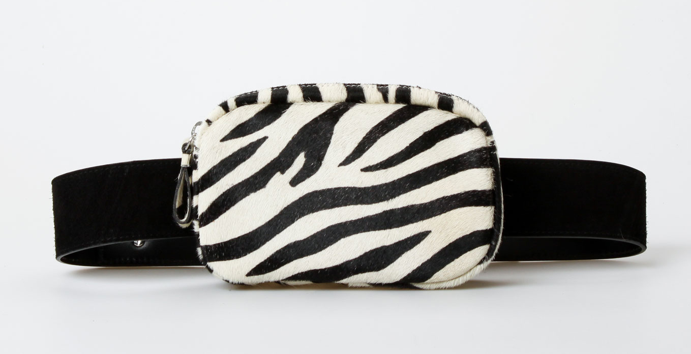Treats Edith Suede Fanny Pack - Zebra